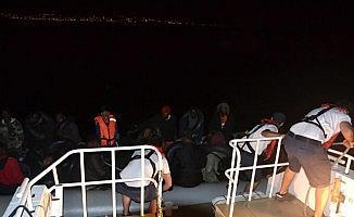 18'i çocuk 38 kaçak göçmen yakalandı