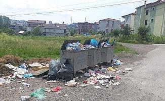 Mahalleli çöplerin alınmamasından şikayetçi