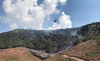 Marmaris yangını 3 hektarda kontrol altında