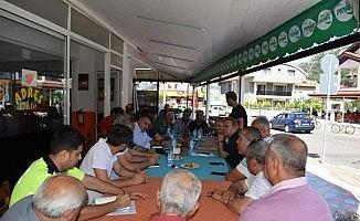 Marmaris'te polis halk buluşması devam ediyor