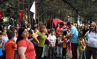 Nallıhan Hoşebe mesire alanında çadırlar kuruldu