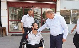 Osmancık Belediyesi'nden Ahmet'e akülü araç