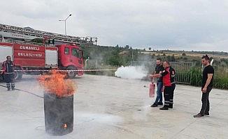 Osmaneli Sürekli Eğitim Merkezi'nden yangın eğitimi