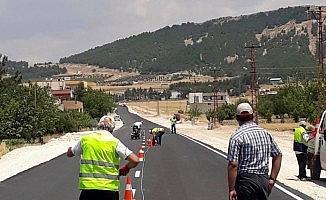 Petrol Caddesinde asfaltı tamamlanan kısım trafiğe açıldı