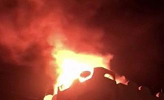 Seferihisar'da çatı yangını paniğe neden oldu