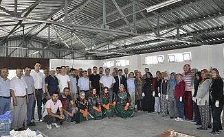 Şuhut'ta mermer süsleme sanatı fabrikası dualarla açıldı