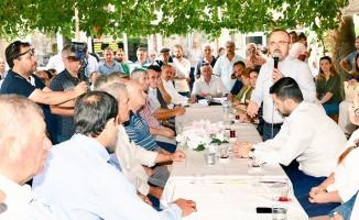 Turan, Lapseki'de hemşehrileriyle bayramlaştı