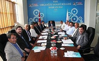 Van Ekonomi Konseyi bileşenlerinden aylık olağan toplantı