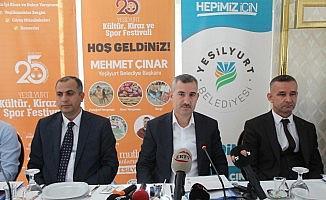 Yeşilyurt'ta 25. Kültür, Kiraz ve Spor Festivali yapılacak