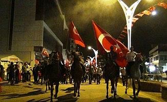 15 Temmuz Demokrasi ve Milli Birlik Günü yürüyüşüne atlarıyla geldiler