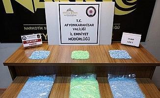 Afyonkarahisar'da 15 bin adet uyuşturucu hap ele geçirildi