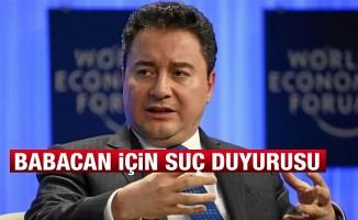 Ali Babacan hakkında suç duyurusu