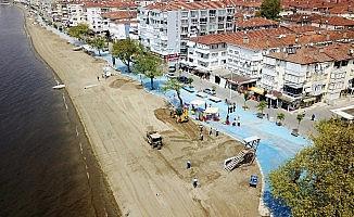 Bursa plajları yosunlardan arındırılıyor