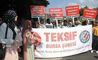 Bursa'daki o işçiler yine eylemde