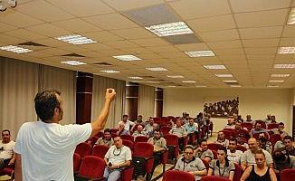 Güvenlik görevlilerine insan ilişkileri semineri