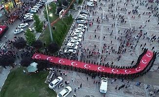 Karabük'te 15 Temmuz Demokrasi ve Milli Birlik Günü yürüyüşü