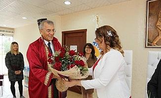 Mezitli'de evlenen çiftlerde yoğun artış