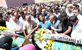 PKK'nın bombası ile ölen 2 çocuk son yolculuğuna uğurlandı