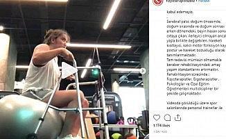 Serebral palsi hastasına spor salonunda egzersiz yaptırılmasına fizyoterapistlerden tepki