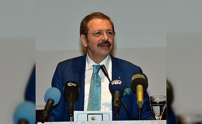 """TOBB Başkanı Hisarcıklıoğlu: """"Bu bankalar o kadar vicdansızlar ki iyi günde hepsi peşimizden koşar, yağmur başladığı an elinden şemsiyeyi alıp hepsi ortadan kaybolur"""""""