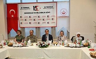 Vali Türker Öksüz, şehit yakınları ile bir araya geldi
