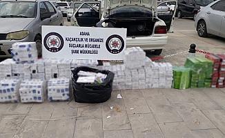 Adana'da 50 bin 90 paket kaçak sigara ele geçirildi