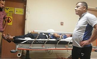 Elini makineye kaptıran işçi yaralandı