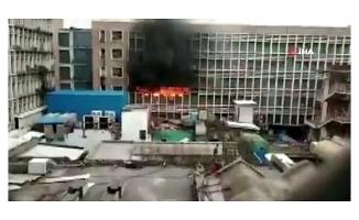 Hindistan'da korkutan yangın