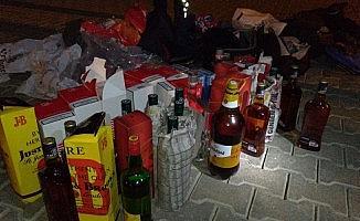 Kastamonu'da kaçak sigara ve alkol ele geçirildi: 3 gözaltı