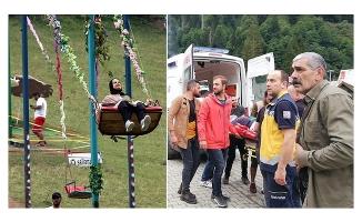 Rize Ayder'de salıncaktan düşen kişi yaralandı