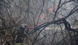 İnegöl Oylat'ta çalılık yangını
