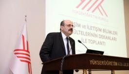 YÖK Başkanı Yekta Saraç dekanltlar ile toplantı düzenlendi