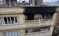 Babasıyla yaşadığı evi yaktı
