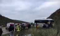 Balıkesir'de midibüs şarampole devrildi: 6 yaralı