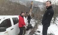 Tokat'ta karda mahsur kalan işçiler 9 saatte kurtarıldı
