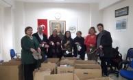 Marmaris'ten Erciş'e kışlık giysi ve kırtasiye yardımı