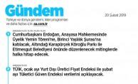 Türkiye ve dünya gündemi, lider programları ve uluslararası etkinlikler Gündem sayfasında