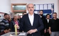 AK Parti Genel Başkanvekili Kurtulmuş, oyunu kullandı