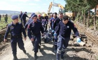 Çatalca'da göçük altında kalan işçi hayatını kaybetti