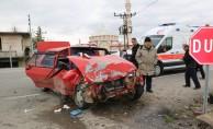 Samsun'da otomobil ile kamyonet çarpıştı: 7 yaralı