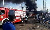 Samsun'da iş yeri yangını korkuttu