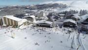 Uludağ'da kayak keyfi drone ile görüntülendi