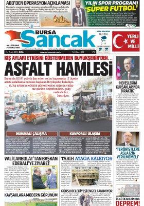 BURSA SANCAK GAZETESİ - 14.12.2018 Manşeti