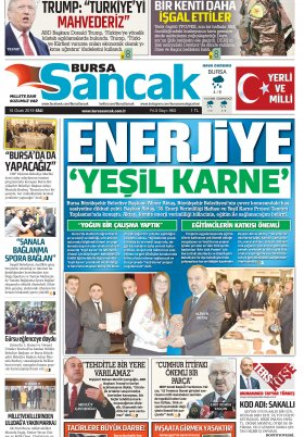BURSA SANCAK GAZETESİ - 15.01.2019 Manşeti