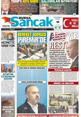BURSA SANCAK GAZETESİ - 15.12.2018 Manşeti