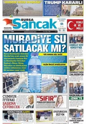 BURSA SANCAK GAZETESİ - 18.01.2019 Manşeti