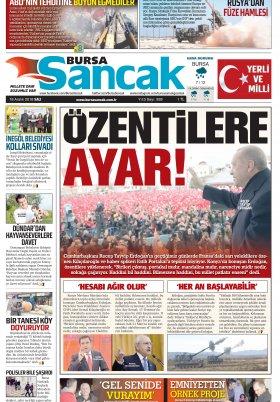 BURSA SANCAK GAZETESİ - 18.12.2018 Manşeti