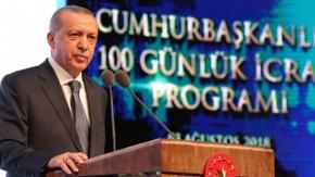 Cumhurbaşkanı Recep Tayyip Erdoğan İkinci 100 günlük eylem planını açıklıyor