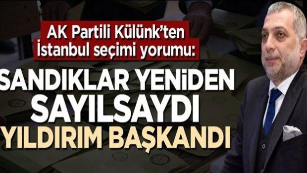 Metin Külünk'ten 'İstanbul seçimi' yorumu: Sandıklar yeniden sayılsaydı, Binali Yıldırım başkandı
